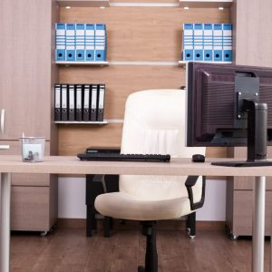 Business office interior. Comfortable and modern workspace